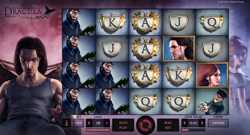 Have a spooky time with this Dracula slot machine