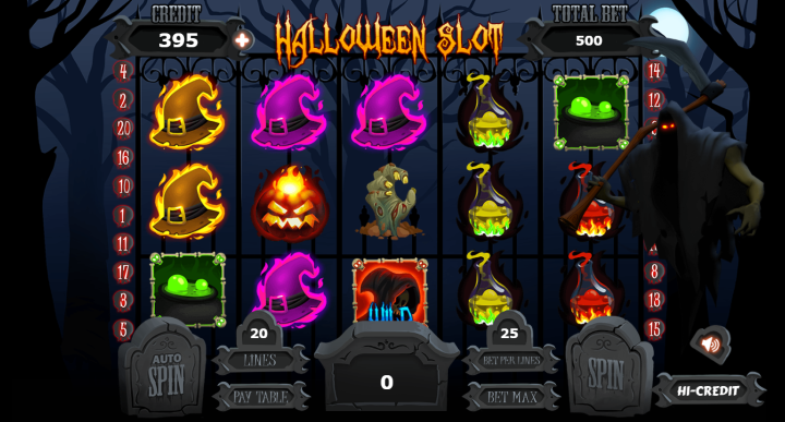 Bring Halloween with you all the time, play Halloween Slot on your mobile