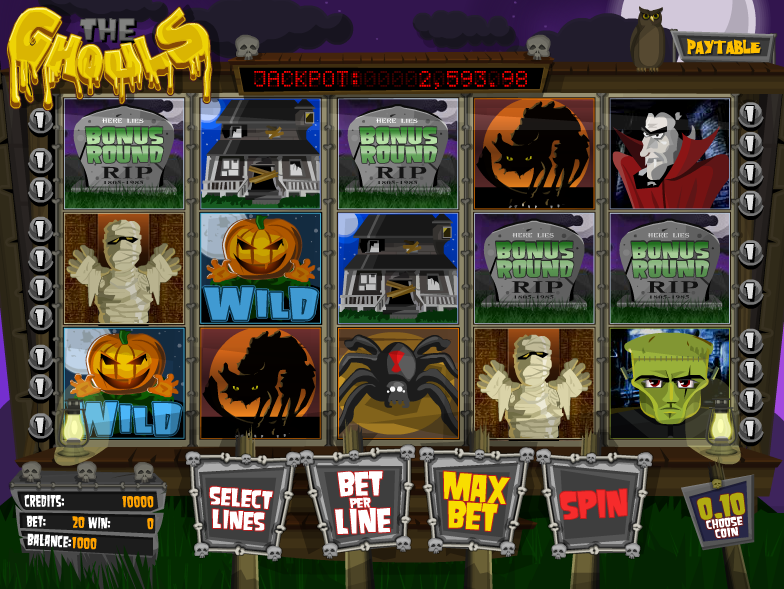 Meet all the classic pantheon of monsters in The Ghouls slot