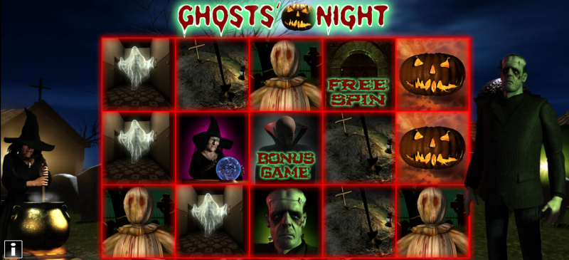 Ghosts and scarecrows and jack-o-lanterns at night; for sure this Ghosts' Night slot is the best type of fright!