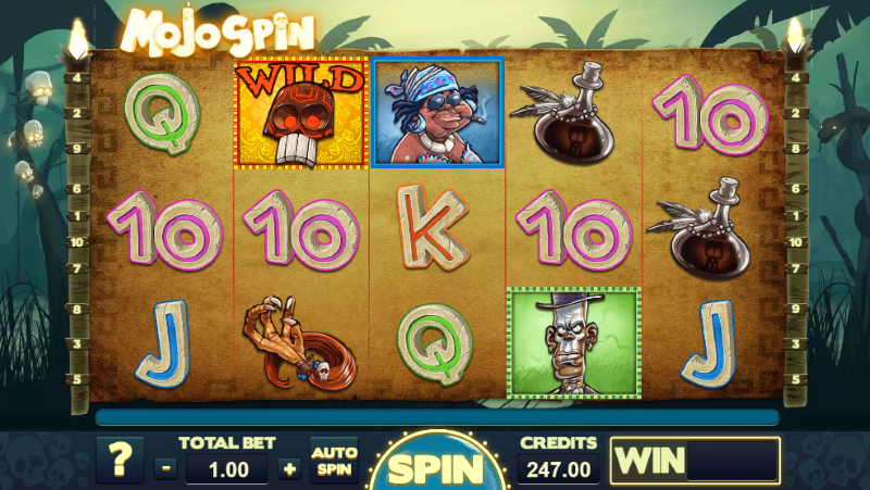 Do that Voodoo that you do so well, play Mojo Spin slot machine and cast your spell!